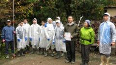 岩手県立一戸高等学校のウルシの実の採取実習に参加しました