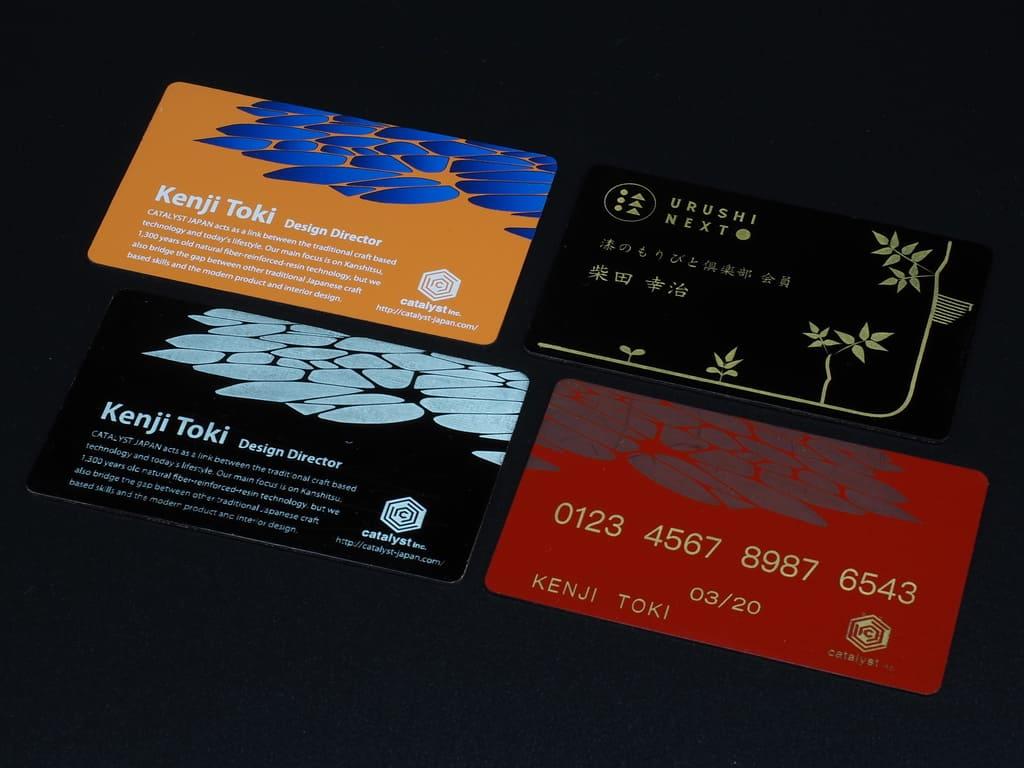 乾漆カードサンプル